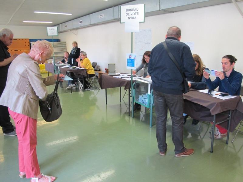 Bureau de vote Bajatière à Grenoble lors des élections européennes de 2019 © Séverine Cattiaux - Place Gre'net