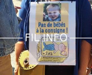 """FIL INFO Mobilisation du personnel des crèches, à l'appel du collectif """"Pas de bébé à la consigne"""" jeudi 23 mai 2019 à Grenoble DR"""