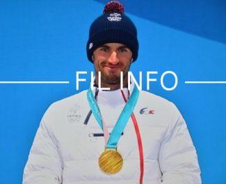 Pierre Vaultier, médaillé d'or en snowboard cross aux JO 2018. © DR