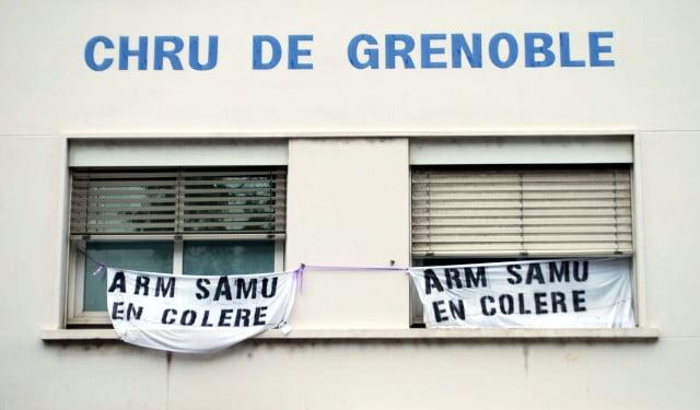 Mouvement de grève des personnels des urgences le 28 mai à Grenoble. © Jérôme Diaz - Place Gre'net