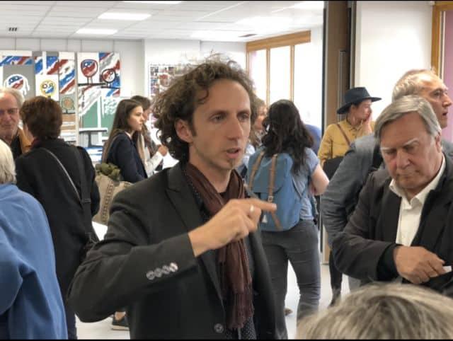 Eric RecouraEric Recoura fait visiter le pôle à plusieurs élus de la région.