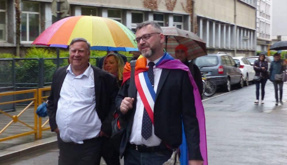 Emmanuel Carroz (à droite) et Bernard Macret © Florent Mathieu - Place Gre'net