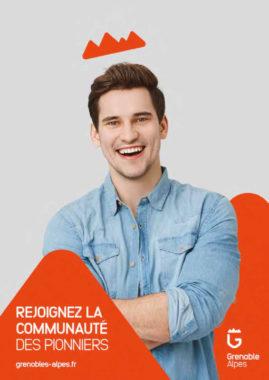 L'une des affiches de la campagne de communication de Grenoble Alpes. © Agence Hula Hoop