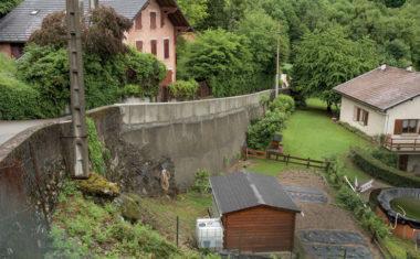 Le mur de la villa Rose à Séchilienne. © Grenoble-Alpes Métropole
