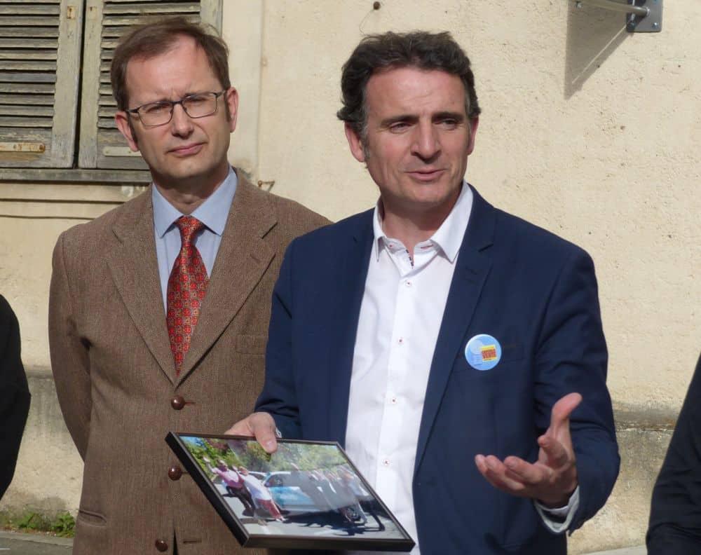 Éric Piolle aux côtés de Götz Meister (à gauche) © Florent Mathieu - Place Gre'net