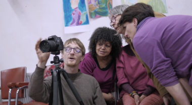 Résidences de light painting à Solexine, capture d'écran du film de Camille Bourrier