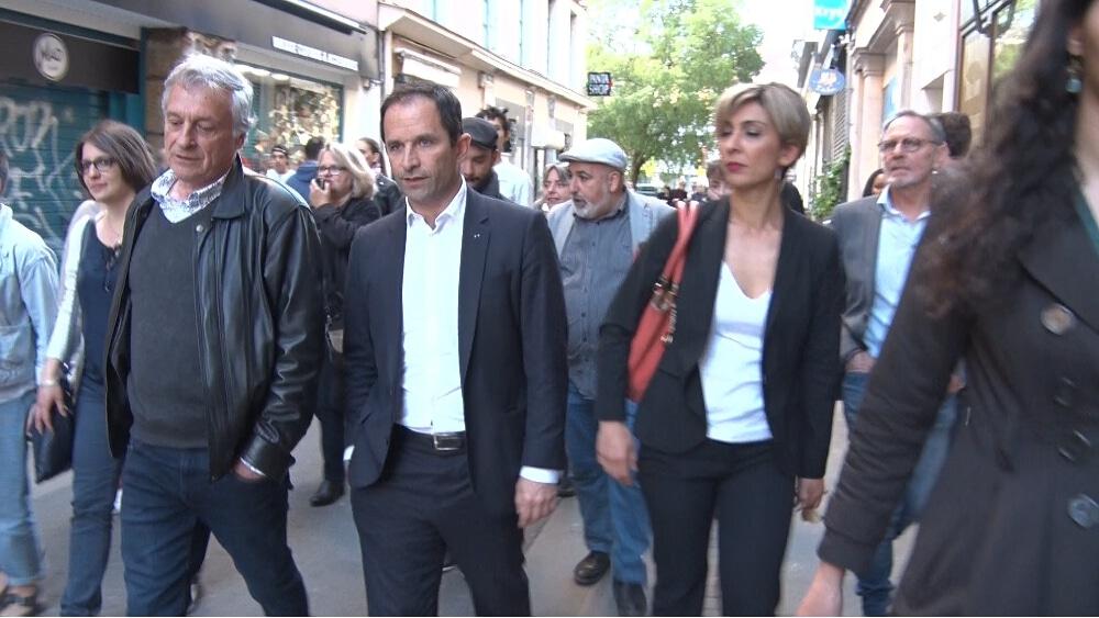 De gauche à droite : Paul Bron, Benoît Hamon et Zerrin Bataray. © Joël Kermabon - Place Gre'net