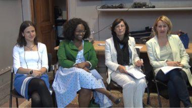 De gauche à droite : Kinga Igloi, Sibeth Ndiaye, Sylvie Brunet et Émilie Chalas. © Joël Kermabon - Place Gre'net