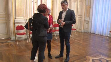 Guillaume Gontard lors de la soirée électorale. © Joël Kermabon - Place Gre'net
