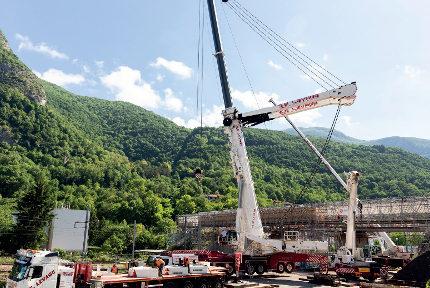 Le pont Bergonzoli de Saint-Martin-le-Vinoux pendant le chantier. © Grenoble-Alpes Métropole