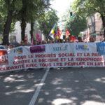 Manifestations à Grenoble, Voiron, Bourgoin-Jallieu et Roussillon à l'occasion du 1er mai 2021
