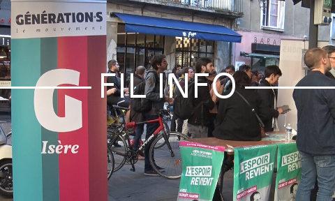 Meeting de Benoît Hamon à Grenoble le 14 mai 2019.© Joël Kermabon - Place Gre'net