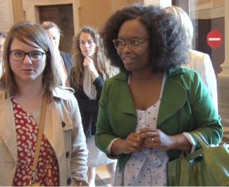 Sibeth Ndiaye, porte-parole du gouvernement. © Joël Kermabion - Place Gre'net