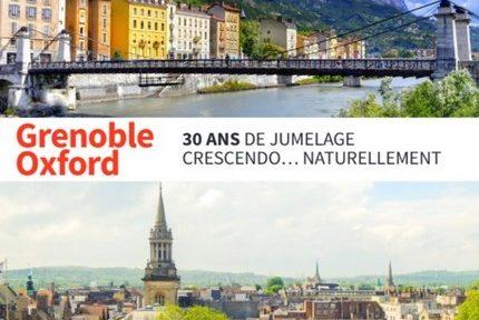 Grenoble et Oxford célèbrent les 30 ans de leur jumelage les 17 et 18 mai 2019, avec à la clé l'arrêt de tram Presqu'île renommé Oxford.