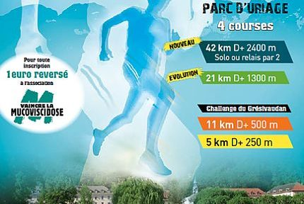 Affiche Uriage Trail Running le 19 mai 2019. © DR