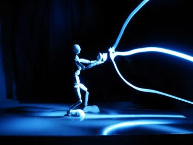 Blueman, création de light painting à Solexine. DR