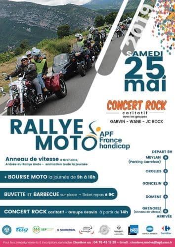 Flyer du rallye moto du 25 mai © APF France Handicap