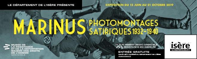 Exposition Marinus photomontages satiriques 1932-1940 au Musée de la résistance et de la déportation de l