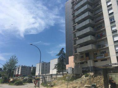 Suite à des perquisitions en région grenobloise, onze personnes ont été interpellées à Voiron ce lundi 17 juin 2019 pour trafic de stupéfiants.Quartier de la Brunetière à Voiron.