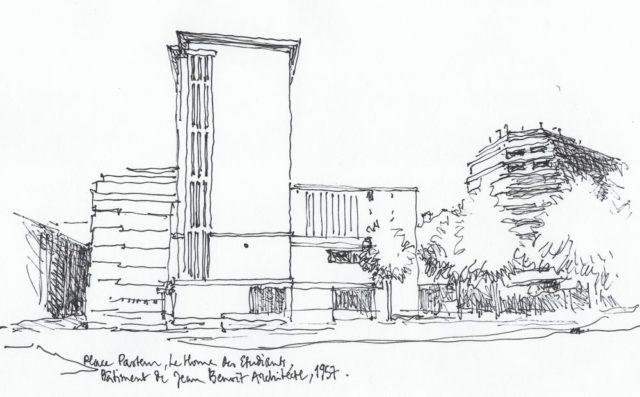 L'architecte Maria Stridorth déplore que le mur de la Bibliothèque d'Etude construit par Jean Benoît ait servi de support à une fresque du Street Art Fest.
