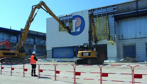 Le chantier de démolition de la Socara à Saint-Quentin-Fallavier © Saint-Quentin-Fallavier