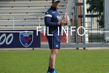 Dewald Senekal entraîneur des avants du FC Grenoble rugby de l'été 2017 à l'été 2019.