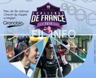 Fil info challenge de France softball féminin. DR