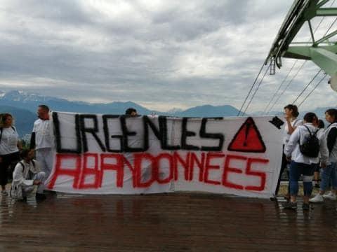 Mouvement des urgentistes à la Bastille en juin 2019. DR