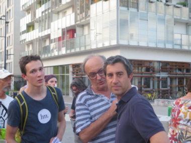 François Ruffin était aux côtés du maire Eric Piolle, ce mercredi 26 juin, pour la campagne en faveur du Rip contre la privatisation des aéroports de Paris.