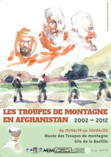 Affiche de l'exposition Les Troupes de montagne en Afghanistan. © Musée des Troupes de montagne