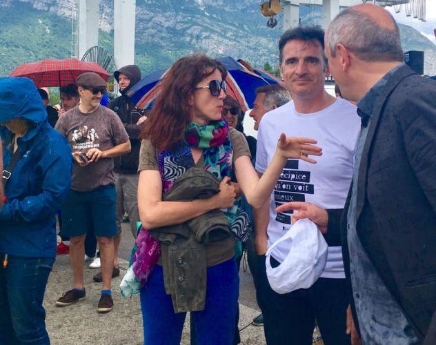 Quand le maire de Grenoble Éric Piolle affiche à présent sa proximité avec Laure Masson. © Éric Piolle - Facebook