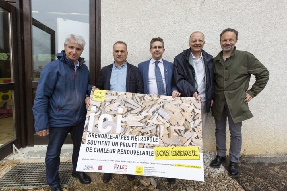 Visite à Quaix-en-Chartreuse de la nouvelle chaudière bois et réseau de chaleur Quaix-en-Chartreuse © Grenoble-Alpes Métropole - Lucas Frangella