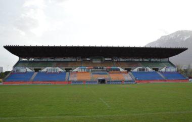 Le stade Lesdiguières de Grenoble où s'entraînent les rugbymen du FCG. © Laurent Genin