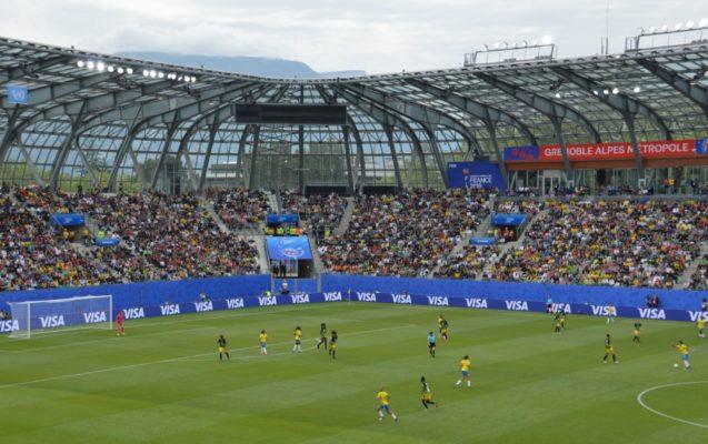 Le premier match du Mondial féminin au stade des Alpes, Brésil-Jamaïque. © Laurent Genin