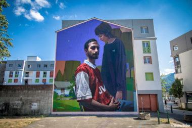 Œuvre de Sebas Velasco. © Street art fest Grenoble Alpes
