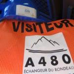 Equipement de visite du chantier de l'A480 le 17 juin 2019