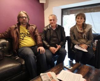 De gauche à droite : David Ryboloviecz, Paul Bron et Juliette Brumelot. © Joël Kermabon - Place Gre'net