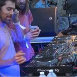 Les DJ Breakbot et Irfane lors de leur set. au festival Musée électronique © Joël Kermabon - Place Gre'net