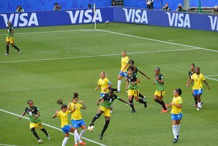 Match de Coupe du monde Brésil-Jamaique (3-0) au stade des Alpes le 9 juin 2019. © Laurent Genin