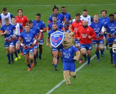 Les joueurs du FC Grenoble rugby saison 2018-2019. © Laurent Genin
