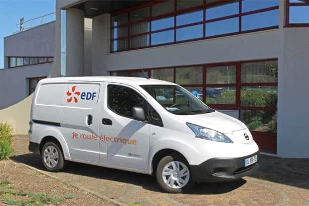 Un véhicule EDF. DR