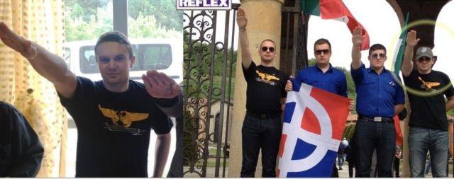 Les saluts nazis de François-Xavier Gicquel, chef de projet pour SOS Chrétiens d'Orient.