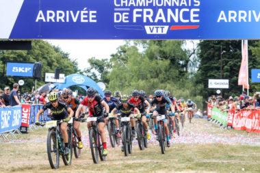 Départ de la finale dames des championnats de France VTT cross-country en 2018. © FFC - Patrick Pichon