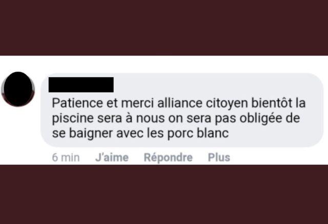 Le message de soutien à l'Alliance citoyenne qui entretient la polémique.