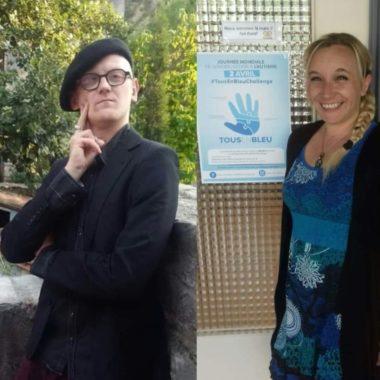 """Charlie Fert et Sarah Loraux-Chiffard cofondateurs du collectif """"à fleur de peau"""" DR"""