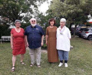 De gauche à droite, Catherine Brette, Michel Baffert, Laurence Algudo et Jacqueline Chapuis (association Alerte). Crédit: Thomas Courtade