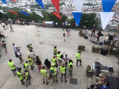 Une partie des gilets jaunes réunis à la Bastille pour le 14 juillet © Nina Soudre - Placegrenet.fr
