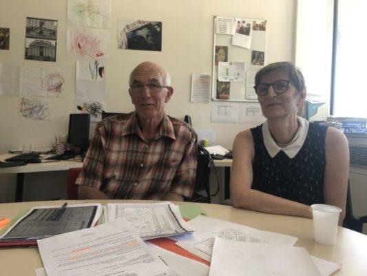 Guy Tuscher et Bernadette Richard-Finot, ex-élus de la majorité © Nina Soudre - Placegrenet.fr