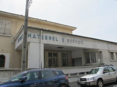 L'école Buffon, ici, l'ancienne entrée rue Buffon, sera complètement réaménagée à la Toussaint 2019 © Séverine Cattiaux - Placegrenet.fr