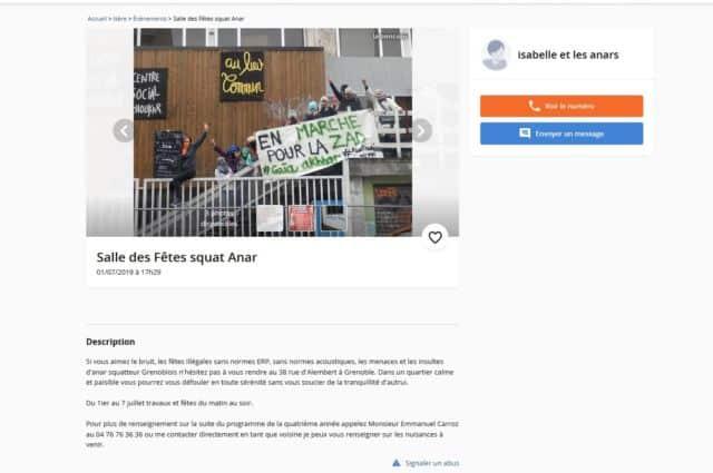 Capture d'écran de l'annonce postée sur Le Bon Coin.